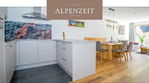 Küche/Küchenzeile in der Unterkunft Alpenzeit