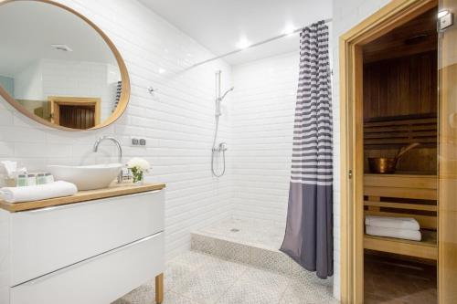 A bathroom at Nevsky Aster