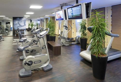 Das Fitnesscenter und/oder die Fitnesseinrichtungen in der Unterkunft IG City Apartments OrchideenPark