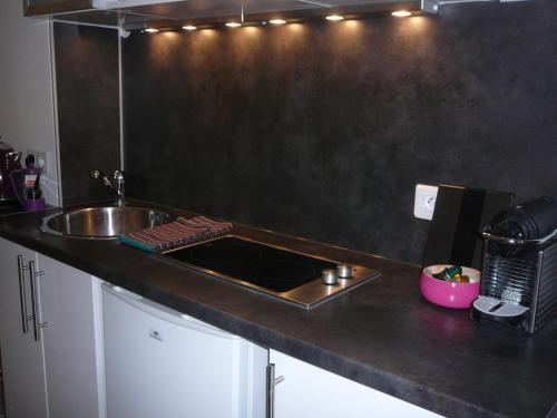 A kitchen or kitchenette at Studio Montonnerre Gare Montparnasse-Necker
