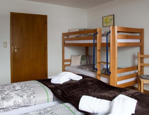 Ein Etagenbett oder Etagenbetten in einem Zimmer der Unterkunft Appartement Seidner Achleit 30, Angerberg
