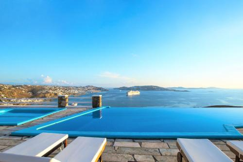 The swimming pool at or near Aeri Villas and Studios