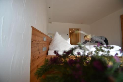 Ein Bett oder Betten in einem Zimmer der Unterkunft Bucherhof