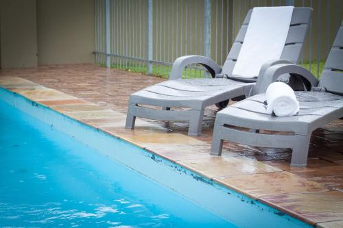 The swimming pool at or close to Apple@Jbay