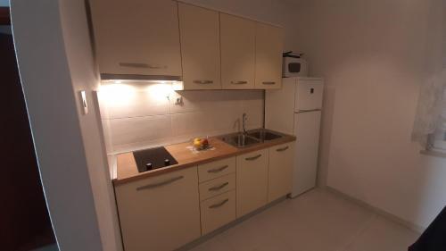 Kuchyň nebo kuchyňský kout v ubytování Apartments Kekica