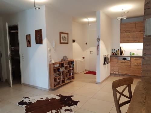 A kitchen or kitchenette at Landlust am See