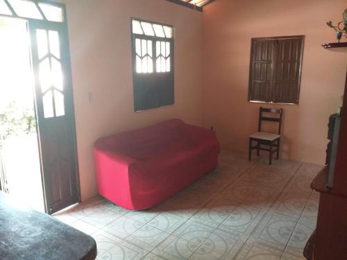 A seating area at Casa para temporada em Itacimirim
