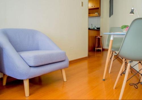 Zona de estar de UH ApartHotel Lastarria
