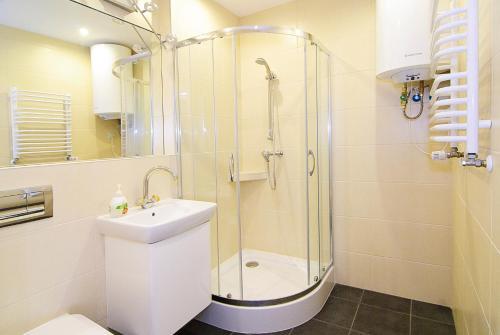 Kúpeľňa v ubytovaní P&J Apartments Floriańska
