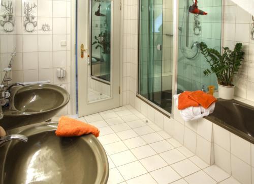 Ein Badezimmer in der Unterkunft Aparthotel Jägerhaus
