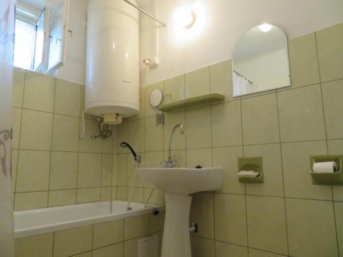 Kúpeľňa v ubytovaní Csányi vendégház
