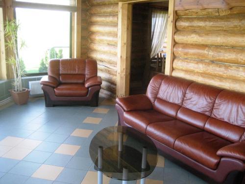 A seating area at Zīdu Kolns