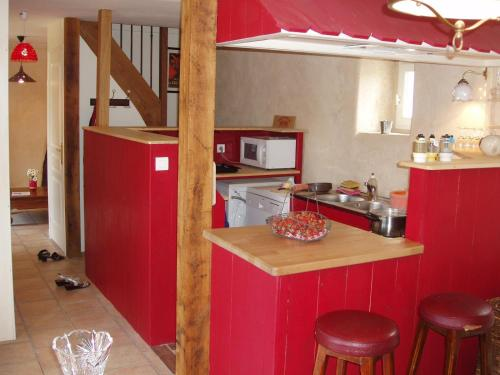 Cuisine ou kitchenette dans l'établissement Gîte de La Porte du Parc