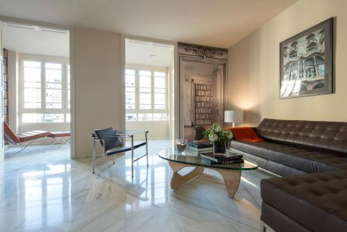 Ruang duduk di Glocal Apartments Barcelona