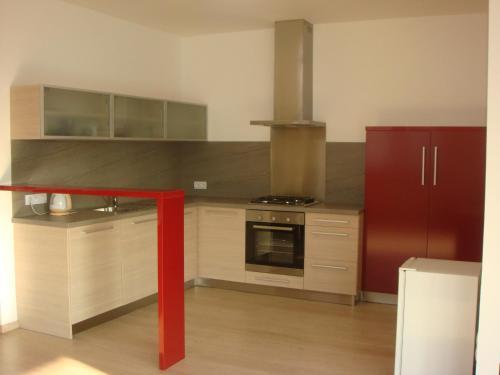 Kuchyň nebo kuchyňský kout v ubytování Apartmán Kurdějov