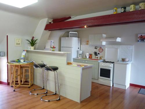 A kitchen or kitchenette at Gîte Les Camélias
