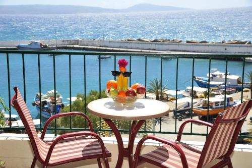 A balcony or terrace at Akteon Rooms