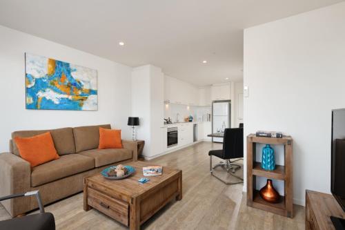 A seating area at Park Avenue - IKON Glen Waverley