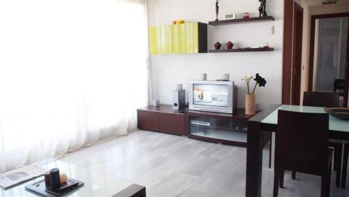 A television and/or entertainment center at Apartamentos Elegance Denia