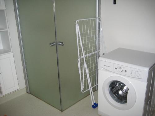 Een badkamer bij Den gamle Brugs