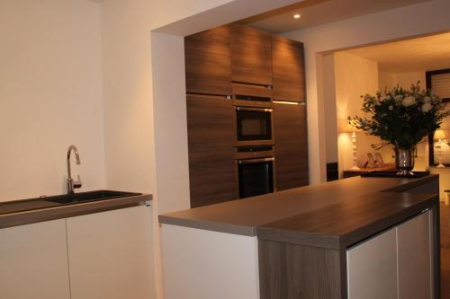 Cuisine ou kitchenette dans l'établissement Huisje Tybary