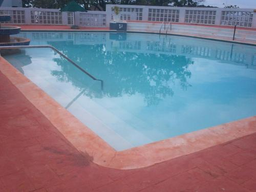 The swimming pool at or near Point Village, Negril, Jamaica