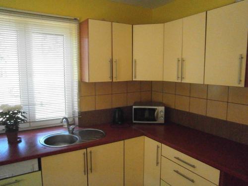 A kitchen or kitchenette at Kreslini