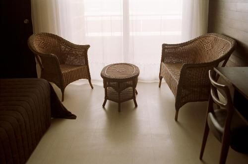 A seating area at Carlina Lodge