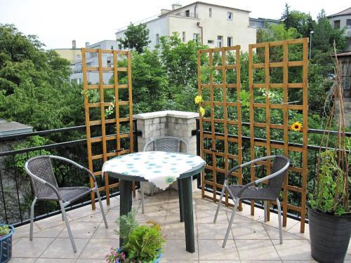Ein Balkon oder eine Terrasse in der Unterkunft Apartmán Franek