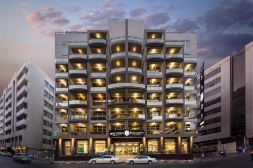 O edifício onde o aparthotel está situado