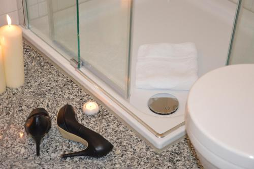 A bathroom at Atelier-Appartement Ambienta im Zentrum von Binz