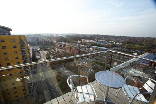 A balcony or terrace at Skyline Plaza By Flying Butler