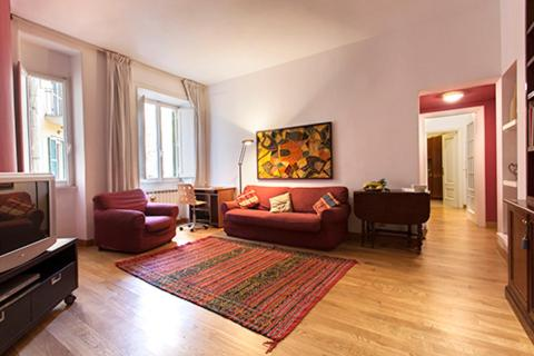 A seating area at Clodio Halldis Apartment