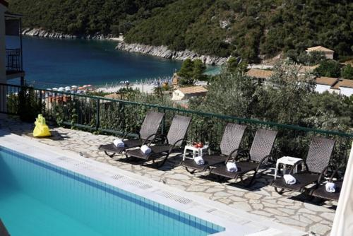 A view of the pool at Poros Beach or nearby