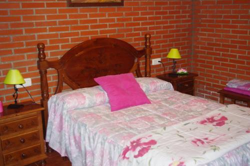 A bed or beds in a room at Finca Barreras