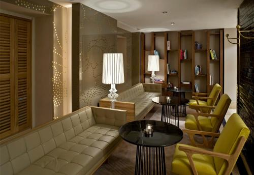 A seating area at Witt Istanbul Suites