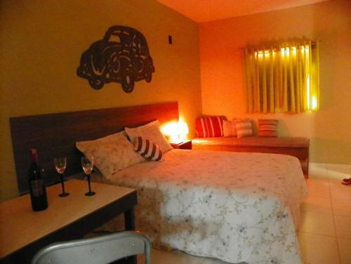 Postel nebo postele na pokoji v ubytování Casal.20 Studios Flats