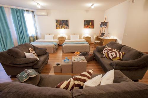 Prostor za sedenje u objektu Lux Apartments Vršac