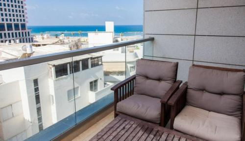 A balcony or terrace at Sunshine Suites