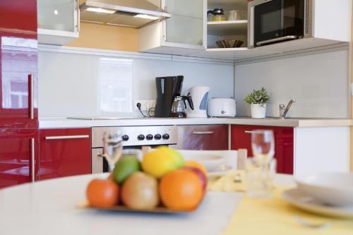 Küche/Küchenzeile in der Unterkunft Vienna Central Apartments