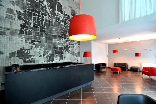 The lobby or reception area at BB Hotels Aparthotel Arcimboldi