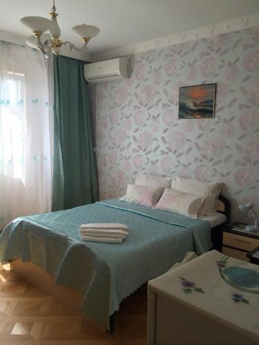 Cama ou camas em um quarto em Kristina Hotel