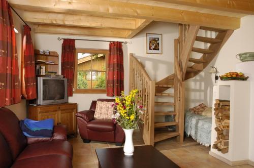 Lounge oder Bar in der Unterkunft Ferienhaus Lenzenbauer
