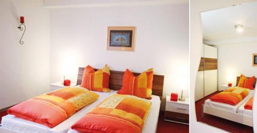 Ein Bett oder Betten in einem Zimmer der Unterkunft Ferienwohnungen Ostengasse 22