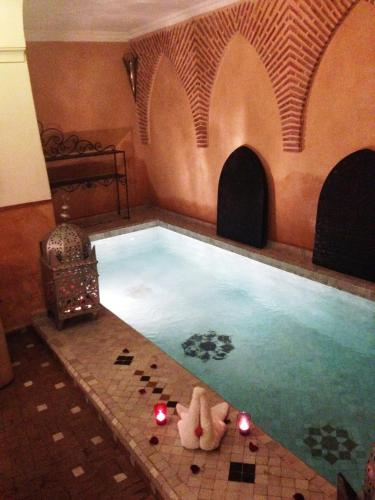 The swimming pool at or near Riad Bjoujna