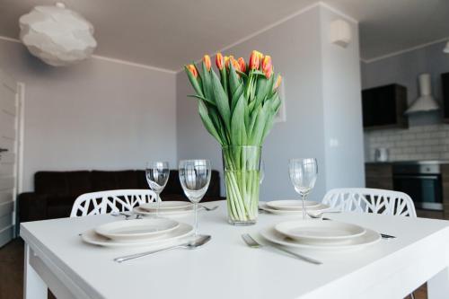 Restauracja lub miejsce do jedzenia w obiekcie Renttner Apartamenty