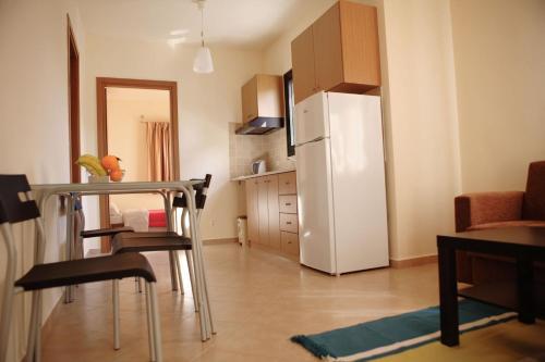 A kitchen or kitchenette at Karmela Day Rent Apartments