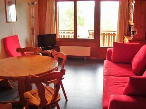 Ein Sitzbereich in der Unterkunft Appartements Bellevue