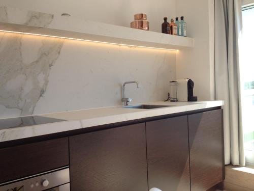 Cuisine ou kitchenette dans l'établissement Penthouse William
