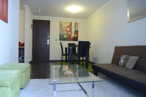 Zona de estar de Santa Lucia Departamento Amoblado